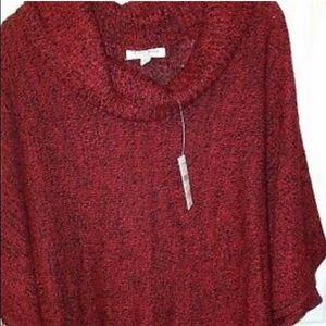 Studio Works Womens Cowl Neck, Ruffled Hem Sweater